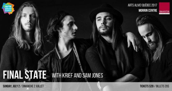 2 juillet 2017 - Arts Alive! Québec 2017/ FINAL STATE, KRIEF, SAM JONES