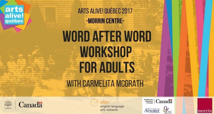 2 juillet 2017 - Word After Word Workshop with Carmelita McGrath (Adults)