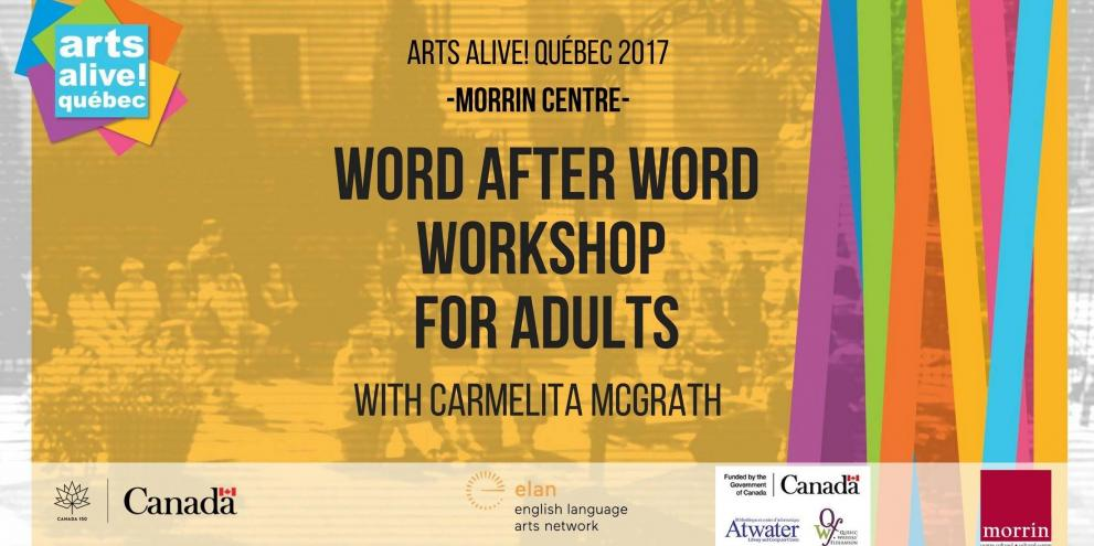 Word After Word Workshop with Carmelita McGrath (Adults)