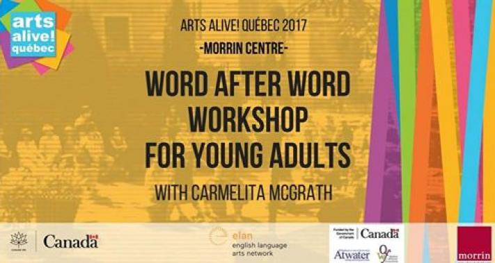 3 juillet 2017 - Word After Word Workshop with Carmelita McGrath (Young Adults)