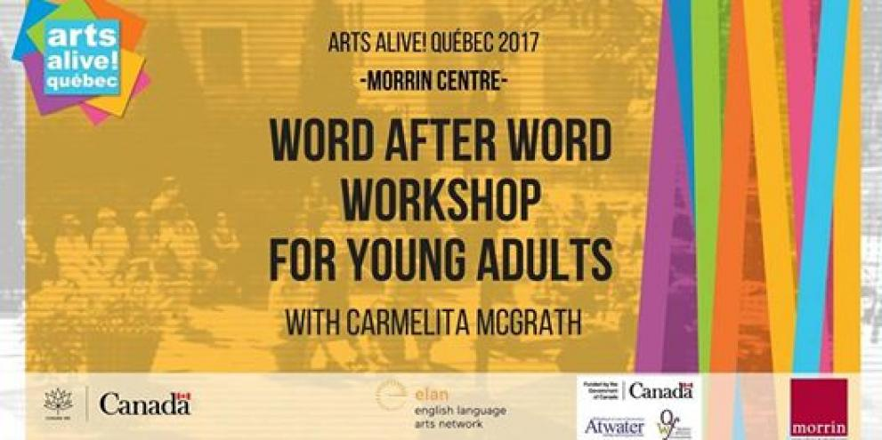 Word After Word Workshop with Carmelita McGrath (Young Adults)