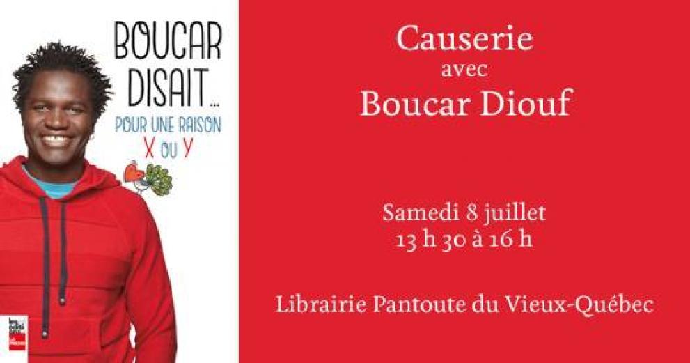Causerie avec Boucar Diouf!