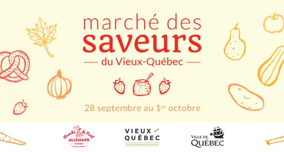 La SDC Vieux-Québec vous invite au Marché des Saveurs