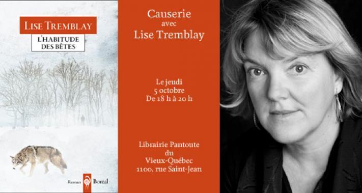 5 octobre 2017 - Librairie Pantoute: causerie avec Lise Tremblay
