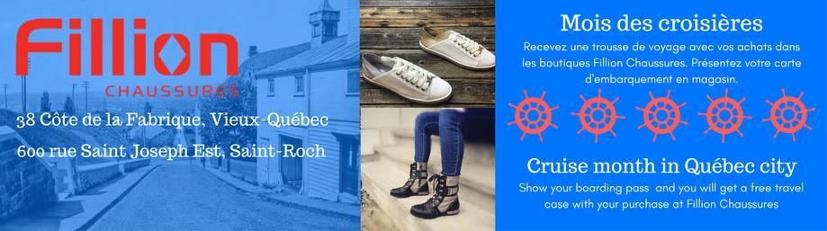 CROISIÉRISTES ET MEMBRES DE L'ÉQUIPAGE. Fillion Chaussures