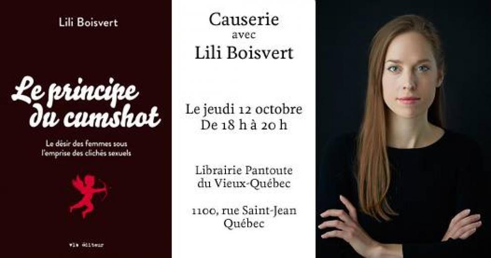 Librairie Pantoute: causerie avec Lili Boisvert