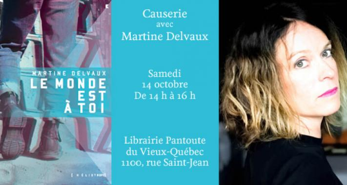 October 14, 2017 - Meet and greet with author Martine Delvaux
