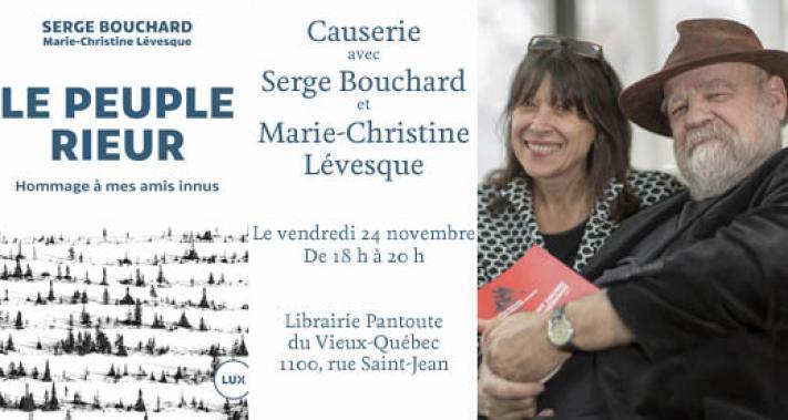 24 novembre 2017 - Causerie avec Serge Bouchard et Marie-Christine Lévesque