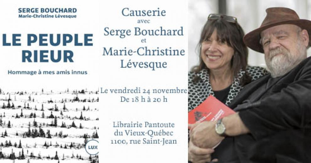 Meet and greet with Serge Bouchard and Marie-Christine Lévesque