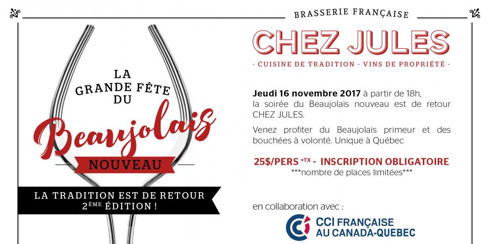 Brasserie Chez Jules celebrates its second Beaujolais Nouveau party
