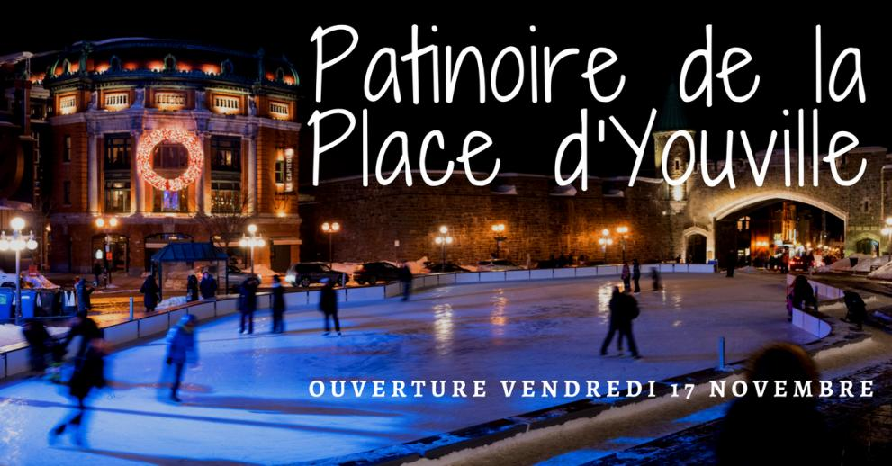 Place d'Youville ice-skating rink official opening