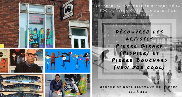 24 novembre 2017 - Les artistes Pierre Bouchard et Pierre Girard au kiosque de la SDC