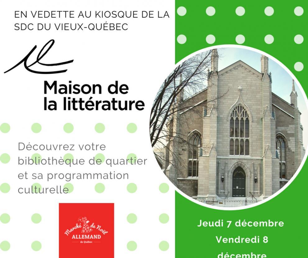 La Maison de la Littérature au kiosque de la SDC Vieux-Québec