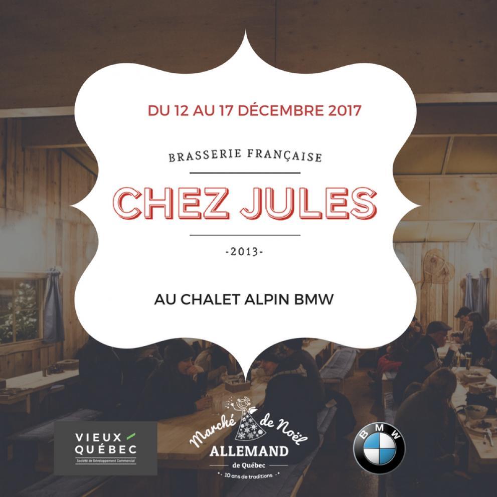 La Brasserie française Chez Jules au Chalet Alpin BMW