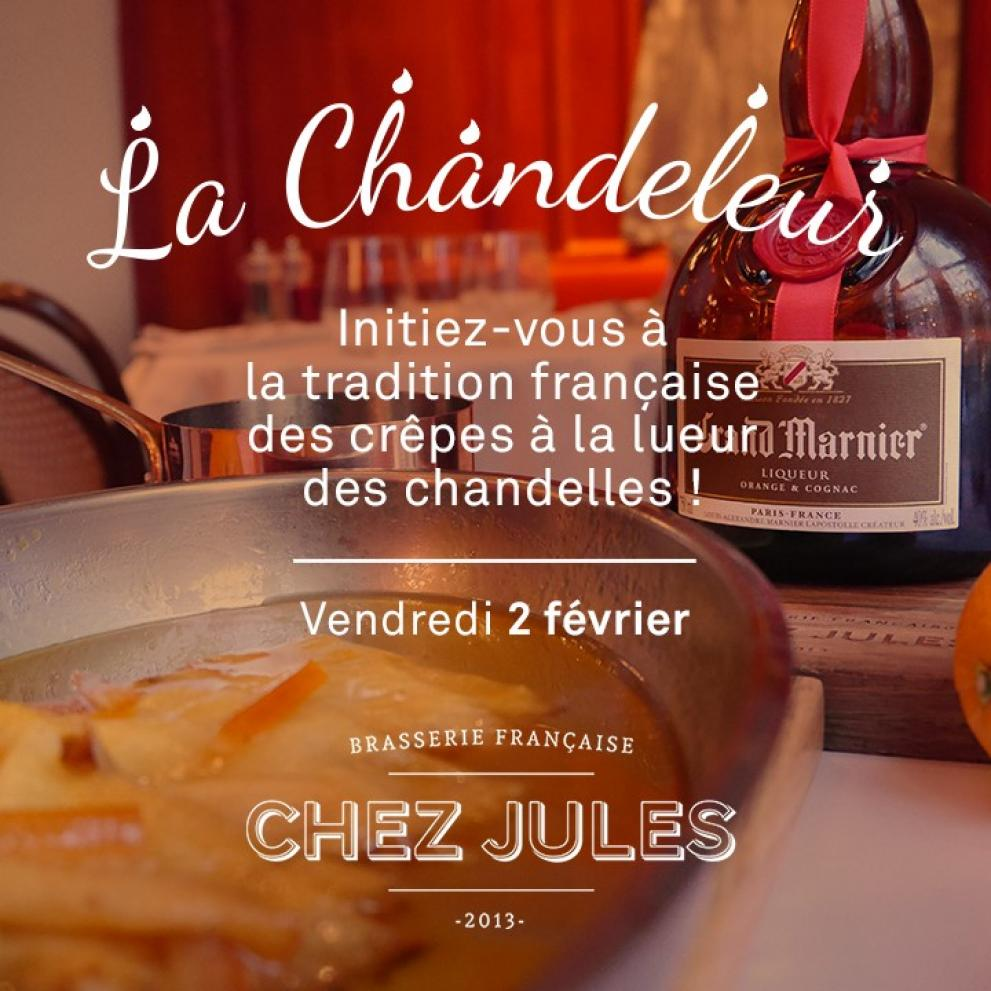 Chandeleur celebrations at french brasserie Chez Jules