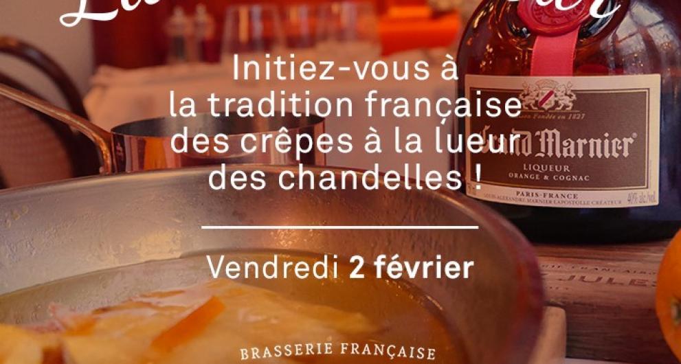 La Chandeleur à la brasserie française Chez Jules