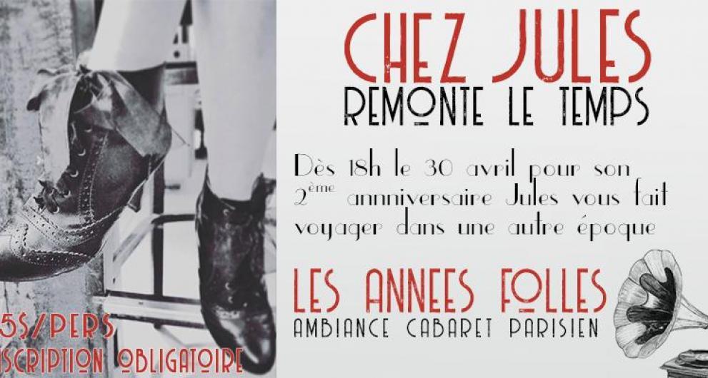 Cabaret parisien pour le 2ème anniversaire de Chez Jules