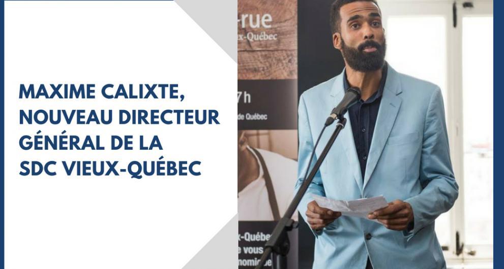 Entrée en poste du nouveau directeur général de la SDC Vieux-Québec